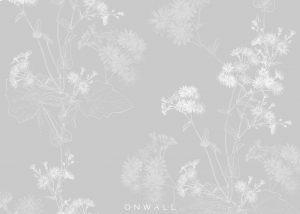 Tapeta Flowers Light Grey