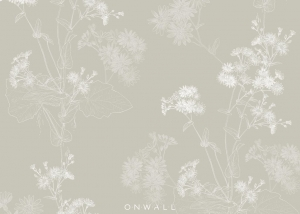 Tapeta Flowers Beige