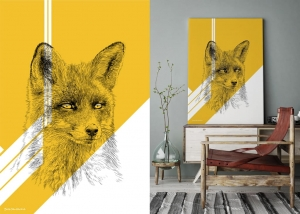 Obraz Lis - Fox Color Gold