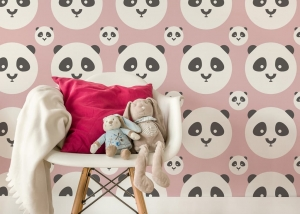 Tapeta Panda Kids Color Baby Pink